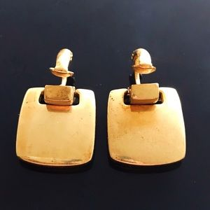 ✨Stunning VTG Givenchy Signed Gold Earrings